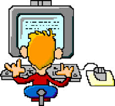 Kid on a computer image